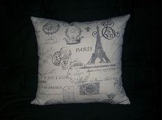 French Stamp Paris Eiffel Tower Decorative Accent Pillow Cover 14x14 16x16 18x18 | eBay