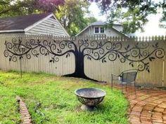 Живопись забор. Нравится идея красить забор! ПЭТ-75