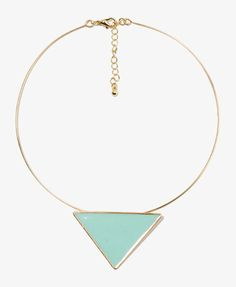 Lacquered Triangle Choker | LOVE21 - 1021841343