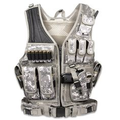 UTG Law Enforcement Unit Vest Right Handed Army Digital Includes Mag Pouches Holster Gear Pouches Pistol Belt