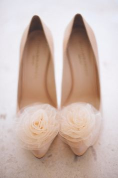Tulled-topped peachy pumps by Loeffler Randall, Image by Jillian Mitchell