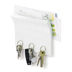 Umbra - Magnetter Key & Letter Holder - White