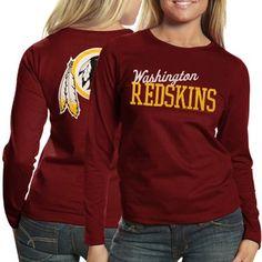 4a853708c  fanatics Washington Redskins Ladies Game Day Long Sleeve T-Shirt -  Burgundy Redskins Apparel