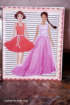 Crafting The Night Away: Magnetic Paper Dolls