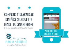 comprar disenos silhouette desde smartphone