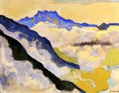 Shop for Ferdinand Hodler 'Dents du Midi in Clouds' Oil on Canvas Art - Multi. Get free delivery On EVERYTHING* Overstock - Your Online Art Gallery Store! Gustav Klimt, Ferdinand, Canvas Art Prints, Oil On Canvas, Art Nouveau, Cloud Art, Mountain Art, Mountain Paintings, Manet
