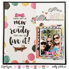 Project Ideas for Simple Stories - Carpe Diem Collection - 12 x 12 Collection Kit