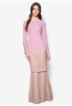 Buy Baju Kurung For Women Online Muslim Fashion, Modest Fashion, Hijab Fashion, Fashion Dresses, Latest Long Dresses, Modest Dresses, Nice Dresses, Baju Kurung Lace, Kebaya Modern Dress