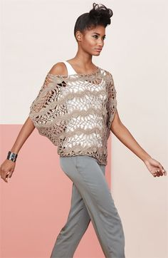 In Nordstrom April 2012 look book. Love it!  Wonder if I could find a pattern for something similar.