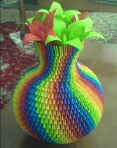 Origami és quilling: Origami váza!