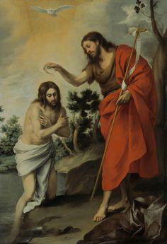 The Baptism of Christ / Battesimo di Cristo / El Bautismo de Jesucristo // 1655 // Bartolomé Esteban Murillo // Gemaldegalerie, Berlino
