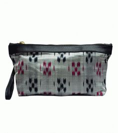 Shop for Clean Planet Indiegenius Handcrafted Ikat Saree Pouch - Pouches and Potlis from SoulQuest