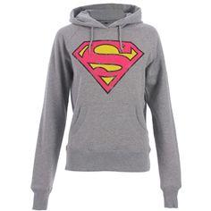 Superman Women's Logo Hoodie (Grey)