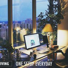 Nice setup with great view! --- #dev #developer #code #coding #coder #hack #hacked #setup #clean #desk  #inspiration #design #battlestation #webdesign #hacker #macbook #mac #apple #startup #mobiledev #goals #goalsetting
