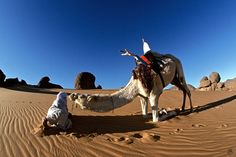 Tuareg-and-his-Camel-Tassili-des-Ajjers-in-Algeria-Photography-60-cm-x-90-cm-2001