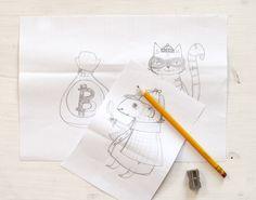 Jedes gute Projekt beginnt ja bekanntlich mit einer guten Skizze. Mal schaun was das hier wird! Coasters, Stationery, Paper, Illustration, Sketches, Projects, Paper Mill, Coaster, Stationery Set