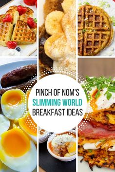 Our Top 6 Slimming & Weight Watchers Friendly Breakfast Ideas - Pinch Of Nom Slimming Recipes Healthy Dinner Recipes, Diet Recipes, Breakfast Recipes, Skinny Recipes, Recipies, Snack Recipes, Health Breakfast, Breakfast For Kids, Protein Breakfast