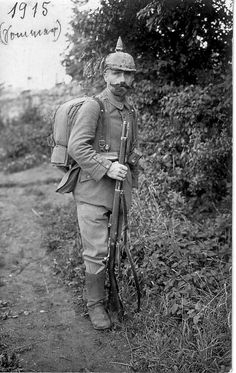 German infantryman during World War I.