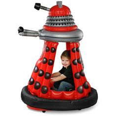 haha Ride-In Dalek... too bad the kiddo is too big for it... and it's expensive.