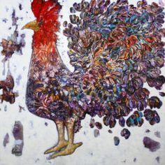 Coq lumière - GAGNON  #Art #artwork #artgallery #Galeriedart #Artist #Artiste #Painting #Peinture #homedecor Artgallery, Galerie D'art, Coq, Art Abstrait, Rooster, Artwork, Painting, Animals, Toile