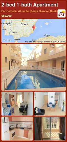 2-bed 1-bath Apartment in Formentera, Alicante (Costa Blanca), Spain ►€50,000 #PropertyForSaleInSpain