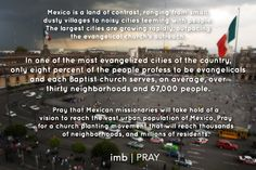 Pray for a church planting movement that will reach millions of residents in Mexico