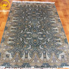 Hand knotted silk rug # Rug No.: P0310 # Quality: 230L (368kpsi) # Size: 4x6ft (122x183cm) # Material: 100% Silk # wholesale Price: $1080/piece # If you have any interests, please email to sales@bosicarpets.com             Hand-madecarpet#orienatlrug#oldrug#Kashmirrug#Chinacarpet#Iraniancarpet#boteh#HeratiGul# Isfahan#Tabriz#Qum#Nain#Kashan#Kerman#Bijar#Sarouk#Caucasian#antiquecarpet#bosicarpet