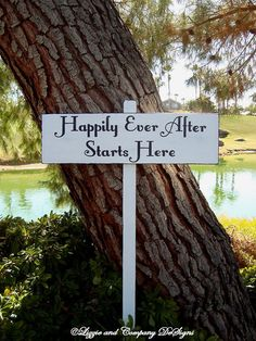 HaPPiLy EVeR AfTeR SiGn - HaPPiLY EVeR AfTeR STaRTs HeRe ARRoW SiGn- DiReCTioNaL WeDDiNg SiGnS - 4ft Stake on Etsy, $49.95