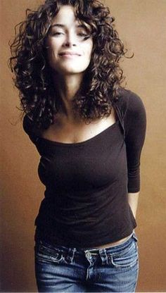 Image result for curly thin midlength hair