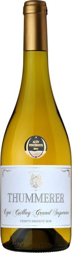 Thummerer Egri Csillag Grand superior Hungarian wine High quality white wine White Wine, Wines, Bottle, Flask, Jars