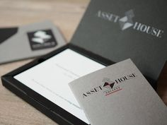 Beautifully branded packaging made for Asset House. Hot foiled using traditional techniques by Noted in Style. Custom Packaging, Brand Packaging, Custom Made Gift, Corporate Events, Gift Bags, Bespoke, Conference, Stationery, Cards Against Humanity