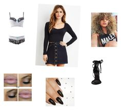 """outfit 13"" by beauitfulasiam on Polyvore featuring Forever 21, Charlotte Russe and Schutz"