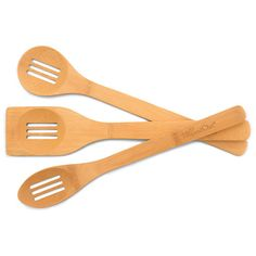 Bamboo Slotted Spoon Set - The Pampered Chef®