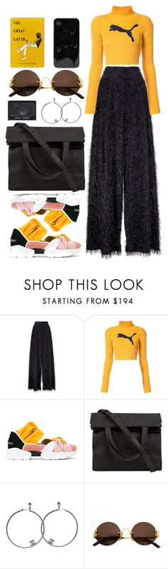 """""""Close ain't close enough 'til we cross the line"""" by emmaadv ❤ liked on Polyvore featuring Brunello Cucinelli, Puma, Emilio Pucci, Alexander Wang, Chanel and Cartier"""