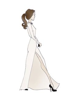 "Duchess of Cambridge Kate Middleton Fashion Gown Print 8.5""x11"" Roland Mouret Cream Gown"
