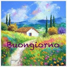 Italian Phrases, Cute Cottage, Good Morning Quotes, Floral Flowers, Flower Designs, Drawings, Prints, Painting, 3
