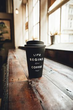 Eco-Friendly Reusable Mug, £14.  Life Begins After Coffee!