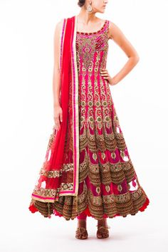 Hot Pink Bridal Anarkali