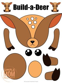 Are you looking for a simple way to teach the letter D to your preschoolers this winter? Click now to get this free printable deer template to make this cute cut out and paste woodland deer craft! He is perfect for kids of all ages including toddlers and kindergartners! #deer #deercrafts #woodland #woodlandanimals #winteranimals #LetterD #SimpleMomProject Forest Animal Crafts, Animal Crafts For Kids, Forest Animals, Christmas Crafts For Kids, Woodland Animals, Toddler Crafts, Preschool Crafts, Woodland Forest, Kid Crafts