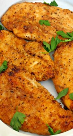 Baked Fried Chicken...slimmed down version of a classic dish. Flavorful and delicious, but better for you.