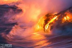Big Island, Hawaii - lave flow into ocean