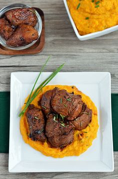 Balsamic Veal and Butternut Purée - Paleo Fondue
