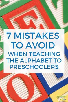 7 mistakes to avoid when teaching the alphabet to your preschooler. The Effective Pictures We Offer You About Teacher Resources books A quality pictu Preschool Curriculum, Preschool Kindergarten, Preschool Learning, Preschool Activities, Homeschool, Teaching The Alphabet, Abc Alphabet, Alphabet Coloring, Learning Letters