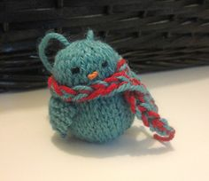 Knitted Bluebird pattern