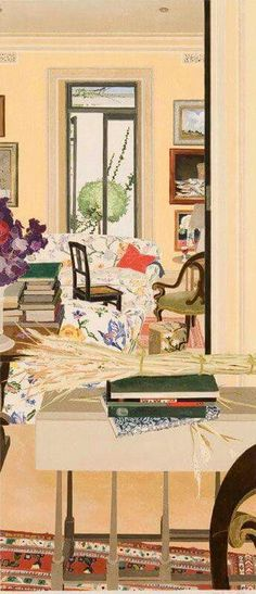 huariqueje:    Interior with Wheat    -   Cressida Campbell  1996 Australian  b.1960-