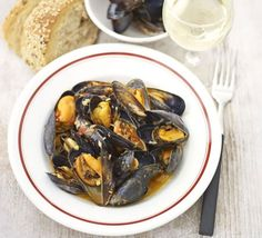Mussels are full of omega-3, iron and protein - try yours cooked in red pesto and wine