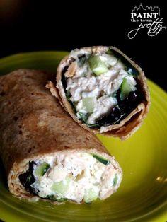 Five Minute Greek Chicken Salad w/ 0% Plain Chobani 7pp #weightwatchers