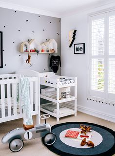 modern white apartment hannah blackmore photography kids room