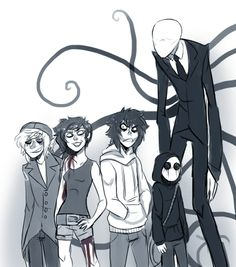 Jeff, Jack, Ben, Jane and poor old Slender man X'D