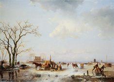 Andreas Schelfhout - Winterpret Met Koek en Zopie. (13)